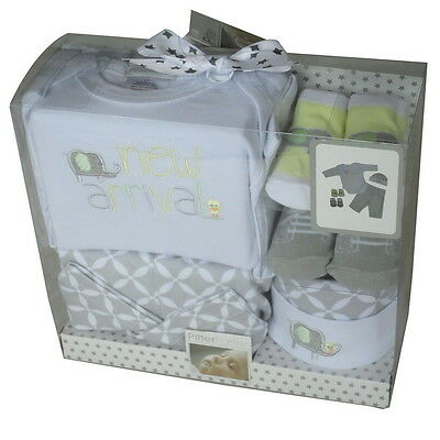 Pitter Patter Elephant and Duck Baby 6 Piece unisex gift box set