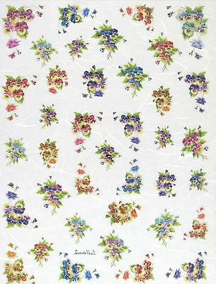 Rice paper Decoupage Scrapbooking Sheet Craft Pansy