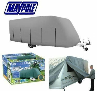NEW PREMIUM MAYPOLE 4-PLY FULL CARAVAN COVER GREY FITS 5.6 To 6.2M (19'-21')