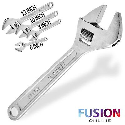 "Adjustable Wrench 6"" 8"" 10"" 12"" Small Large Wrench Spanner Forged Steel Uk"