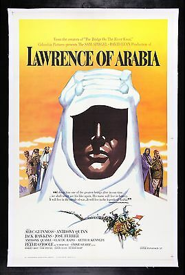 LAWRENCE OF ARABIA * CineMasterpieces ORIGINAL RARE ROADSHOW MOVIE POSTER 1962