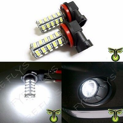 2x 6000K HID Xenon White H8/H11 68-SMD LED Bulbs Driving Fog Lights Lamps DRL