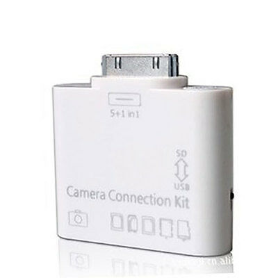 New 5 in 1 card reader for I Pad 3rd gen SDHC microsd MMC Camera connection kit