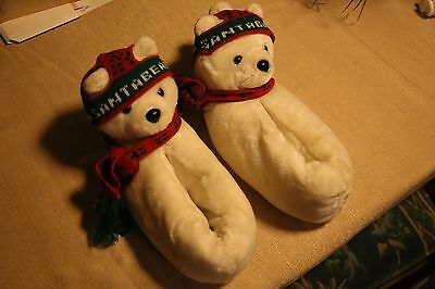 RARE Santa Bear Slippers.  Collectors item.