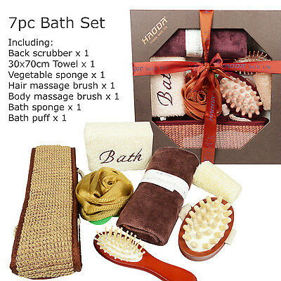 7pc Bath Set, Bath Shower Gift Set, Bath Accessories set