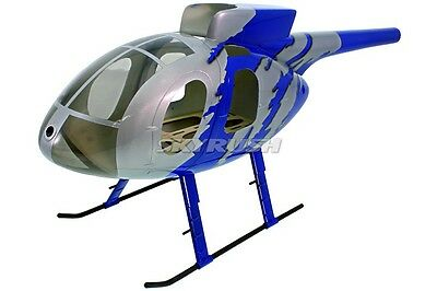 500 size Helicopter fuselage Heli Scalebody Hughes MD 500 Jive Blue fe T-Rex