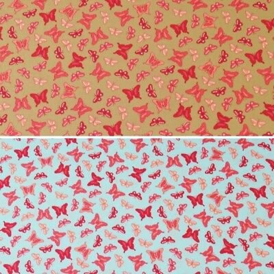 Sale 100/% Cotton Fabric John Louden Pink Butterfly Enchanted Flutterby Insect
