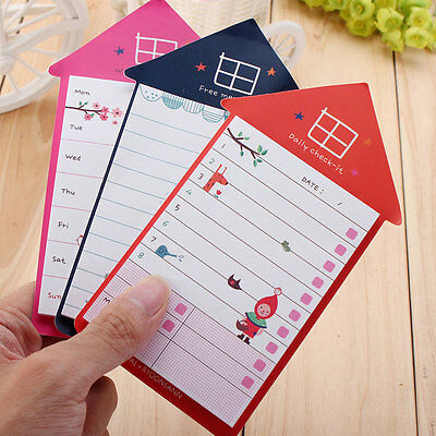 Daily Planner Sticky Notes Post Sticker Bookmark Marker Memo Notepad Check List