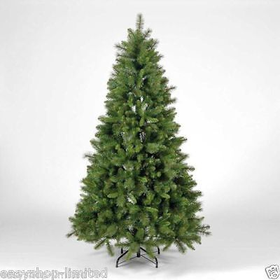 6FT Tall Large GREEN Artificial Christmas Tree Xmas 180cm/1.8m Metal Stand Tips