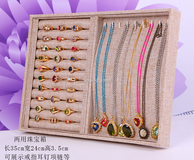 Large Glass Jewellery Tray Necklacse Earrings Bracelets Rings Display Box GB1