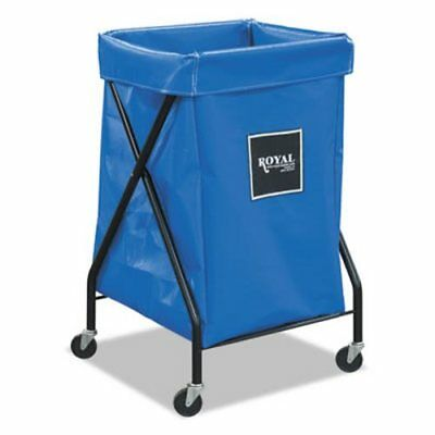 Royal Basket X-Frame Cart, Collapsible, 150 lb Capacity, Blue (RBTR06BBXFA3ON)