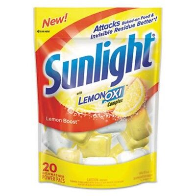 Sunlight Dishwasher Powder Pouches, Lemon Scent, 120 Pouches (DVOCB711021CT)