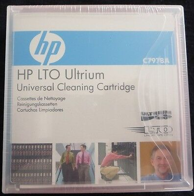 HP LTO Ultrium Universal Cleaning Cartridge C7978A LTO1 LTO2 LTO3 LTO4 LTO5