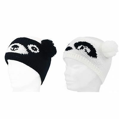 Mens Ladies Animal Bear Winter Knitted Headband Ear Warmer With Pom Pom Ears New