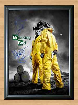 BREAKING BAD Bryan Cranston Aaron Paul Signed Autographed A4 Print Poster Photo
