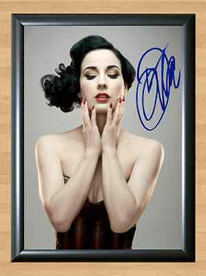 DITA VON TEESE Project Runway Steampunk'd Signed Autographed A4 Print Photo dvd