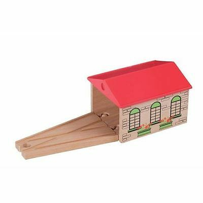 Wooden Railway - Thomas & Brio Compatible Engine Shed - 50942 - New