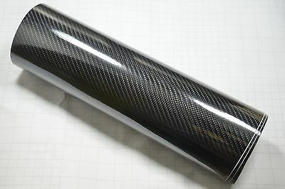 8DM Carbon Fibre Vinyl Wrap (Air/Bubble Free) Black Gloss Multi sizes