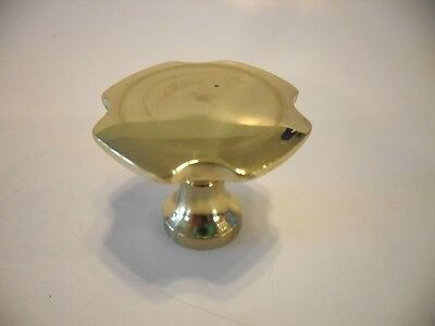 "Vintage NOS 1-1/4"" SOLID BRASS DRAWER KNOBS Cabinet Door Pulls Handles Amerock"