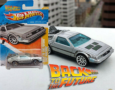 RARE Back to the Future Day Hot Wheels Delorean Logo Oct 21 2015 New on Card DMC