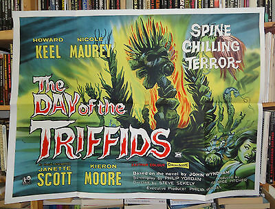 SCI FI/ DAY OF THE TRIFFIDS/ british quad poster