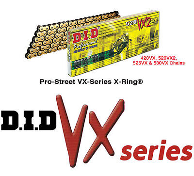 DID VX Gold Heavy Duty X-Ring Chain - 530 Pitch 120 Link 530VXGB120