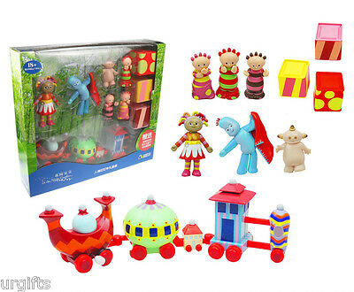 Large Pack Set In the Night Garden Doll Character Figure Ninky Nonk Train Kid
