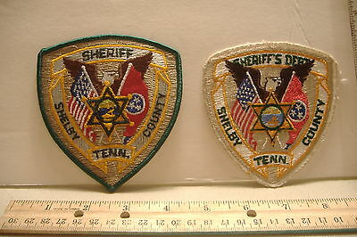 ~Shelby County Sheriff ~Tennessee Patches~Two Styles~