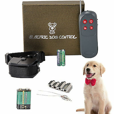 4 In 1 Remote Training Shock Vibrate Collar Trainer Safety For Pet M/L Dog