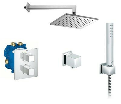 Full shower set Grohe Grohtherm Cube + Omnires 6in1 complete concealed