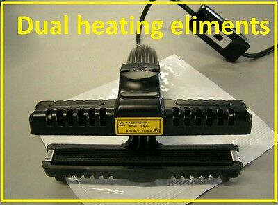 Dual Sided Hand Held Sealer Serrated Teflon Coated for Mylar/Poly bags KF-150CST