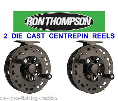 2 Ron Thompson Centrepin Reels For Trout Salmon Fly Rod Line Fishing Centre Pin