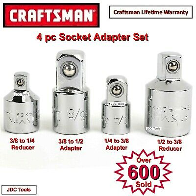 CRAFTSMAN HAND TOOLS 4  PC ADAPTER SET 1/4 3/8 1/2 ratchet wrench socket drive