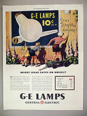G-E Lamps PRINT AD - 1946 ~~ General Electric