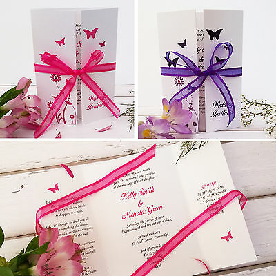 Personalised Wedding Invitations Or Evening Invites with Envelopes