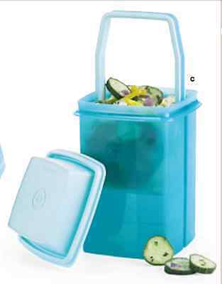 Tupperware Large Pick A Deli Container & Strainer Olives Pickles + Aqua Blue New