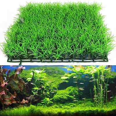 Artificial Water Aquatic Green Grass Plant Lawn Aquarium Fish Tank Landscape JD