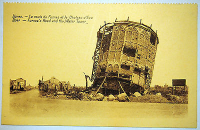 Postcard c. 1920's Furnes's Road & the Water Tower, Ypres - Belgium - by Legia