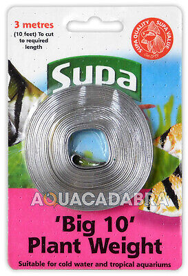 "SUPA ""BIG 10"" 10ft AQUARIUM PLANT LEAD WEIGHT FISH TANK TROPICAL COLD WATER 131"