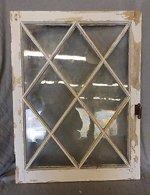 Antique Casement Window Sash Diamond Cabinet Door Shabby Cottage Chic 4989-15