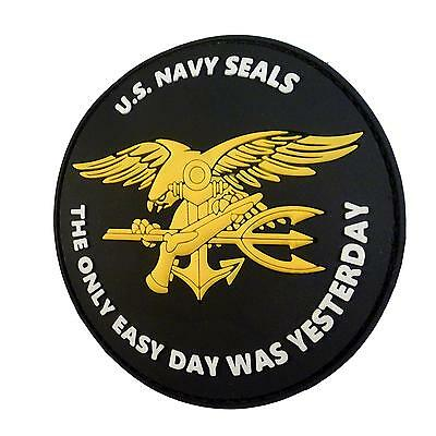 the only easy day US navy seals PVC rubber nswc seal parche hook patch