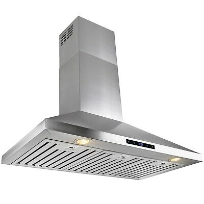 """36"""" Stainless Steel Wall Mount Range Hood Touch Screen Display Kitchen"""