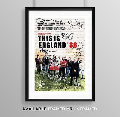 This Is England 86 Cast Signed Autograph Print Poster Photo Show Series Season