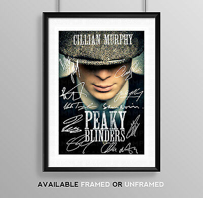 Peaky Blinders Cast Signed Autograph Print Poster Photo Tv Show Series Season