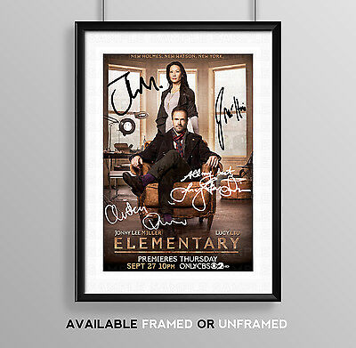 Elementary Cast Signed Autograph Print Poster Photo Series Season Tv Show Dvd