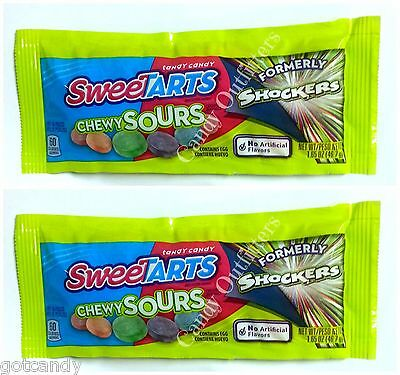 Sweet Tarts - SWEETARTS CHEWY SOURS - EXTREME SOUR CANDIES - Tangy Candy - 2 PKS