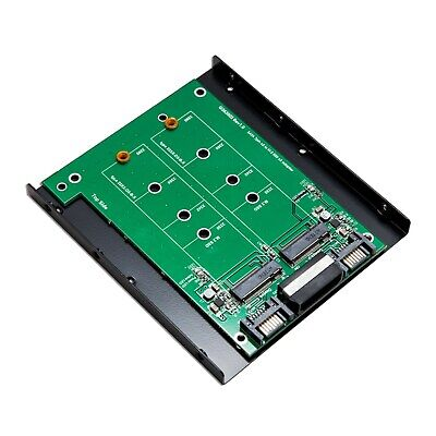 """fit 3.5"""" drive bay Dual SATA III to 3.3V M.2 SSD Adapter for 2230 2242 2260 2280"""
