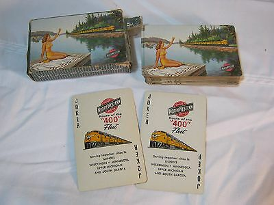 Chicago North Western System Railroad Train Streamliner Fleet Playing Cards