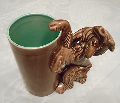 "Afghan Hound Dog Stein KAY FINCH Model 5458~7"" Tall Figurine California Pottery"