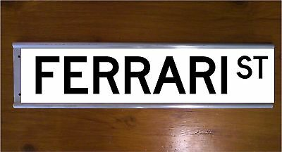 Ferrari Street Sign Road Sign/ Bar Sign - Car - Souvenier